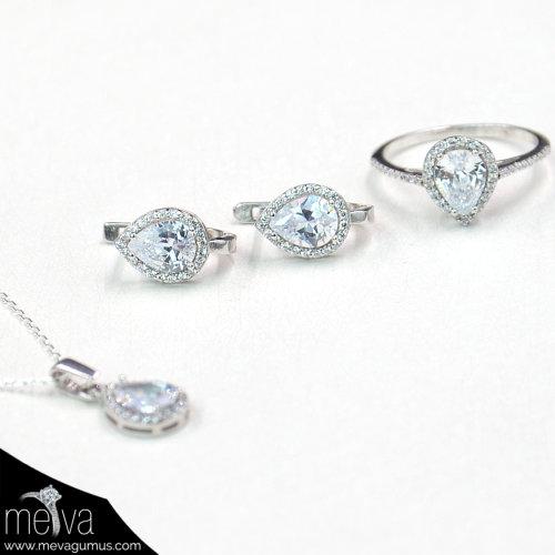 gümüş-renkli-damla-desenli-kadın-üçlü-set-2