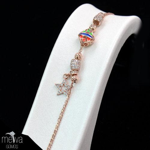 Yıldız Figürlü Pandora Bileklik - 925 Ayar