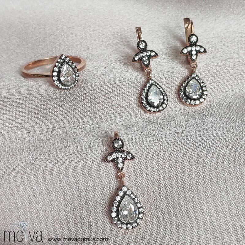 Alya Model Kadın Gümüş Set 1