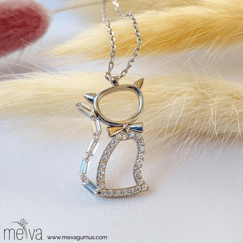 Feline Model Kadın Gümüş Kolye 1