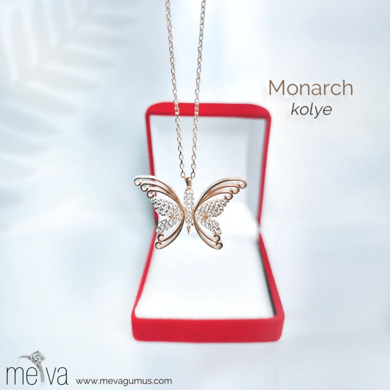 Monarch Model Kadın Gümüş Kolye 1