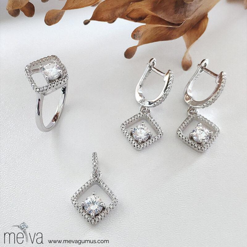 Odette Model Kadın Gümüş Set 1