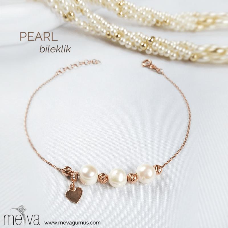 Pearl Model Kadın Gümüş Bileklik 1