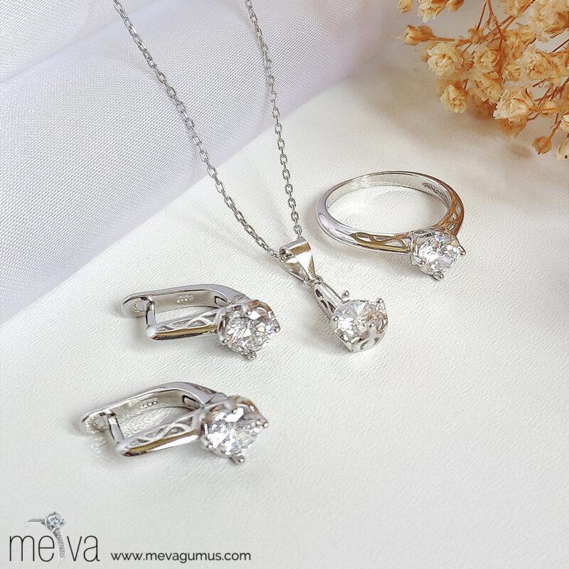 Polaris Model Kadın Gümüş Set 1
