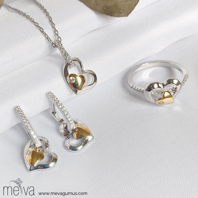 Psyche Model Kadın Gümüş Set 1