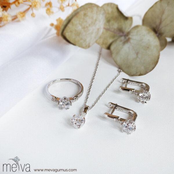 Sola Model Kadın Gümüş Set 1