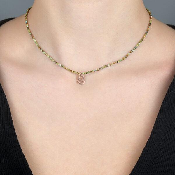 Firuze Model Kadın Gümüş Kolye 1