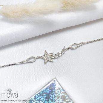 Astral Model Kadın Gümüş Bileklik 1