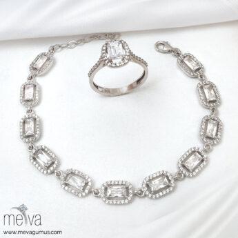 Channel Model Kadın Gümüş Bileklik 1