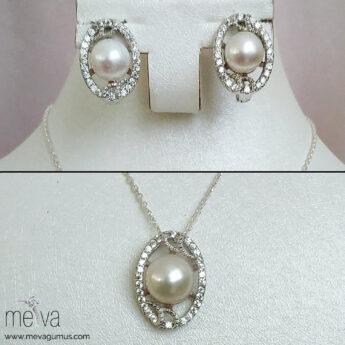 925 Ayar Lace Model Kadın Gümüş Set 2