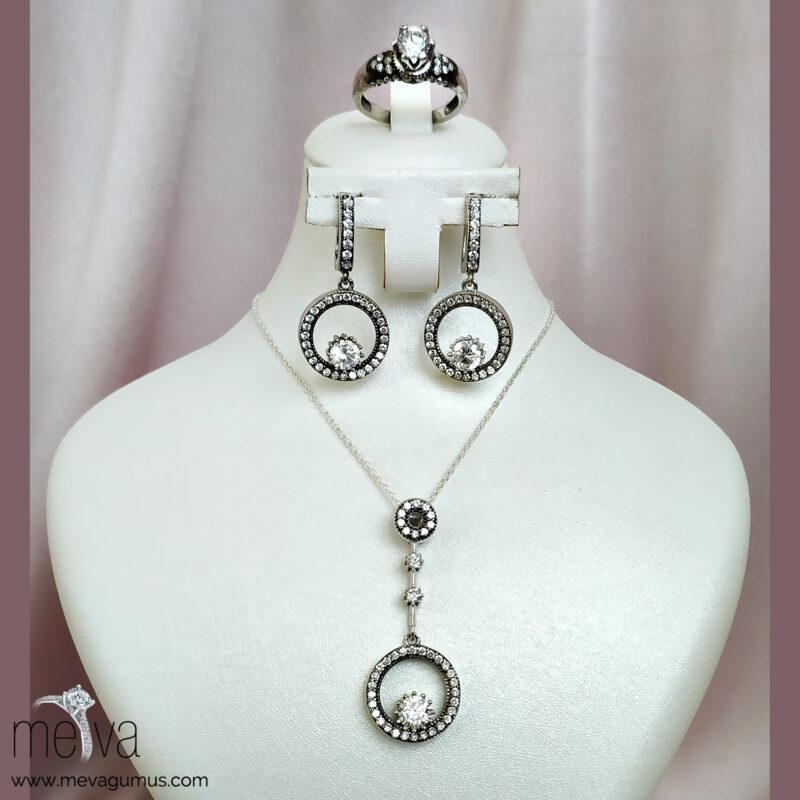 Medusa Model Kadın Gümüş Set 1