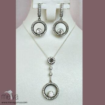 Medusa Model Kadın Gümüş Set 2